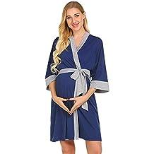 LHWY Premamá Invierno Leggins Abrigos Bata De Maternidad Bata De Parto Camisones Hospital Vestido De Lactancia