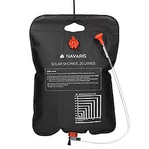 Navaris Campingdusche solar 20 L – Camping Dusche Solardusche – Campdusche Reisedusche kompakt – Camp Shower Outdoordusche mobil