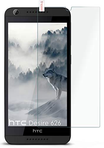 moex 9H Panzerfolie für HTC Desire 626G | Panzerglas Bildschirm Glasfolie [Tempered Glass] Screen Protector Glas Bildschirmschutz-Folie für HTC Desire 626G/626 Schutzfolie