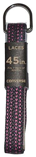 Converse Unisexe de remplacement Cordon Lacets de chaussures plates Style Lacets Black/Pink Polka Dot