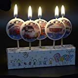 Partysanthe McQueen Car Party Candle/Birthday Car Candle/Car Theme Birthday Candle/Cake Car Candle (5 Pcs Candle Set)