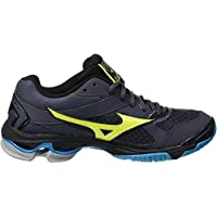 MIZUNO V1GA186047 Wave Bolt 7 Men's Volleyball Shoes, 7.5 UK, Ombre Blue/Safety Yellow/Hawaiian Ocean