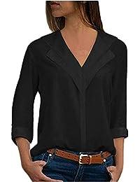 ITISME FRAUEN BLUSE Mode Damen Chiffon Solid T-Shirt Büro Damen Tasche  Chiffon Casual Shirt 883d93150f