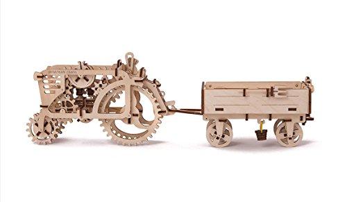 Ugears Set 70003 + 70006 Traktor und Anhänger Sparset Jahrhunderts Traktoren