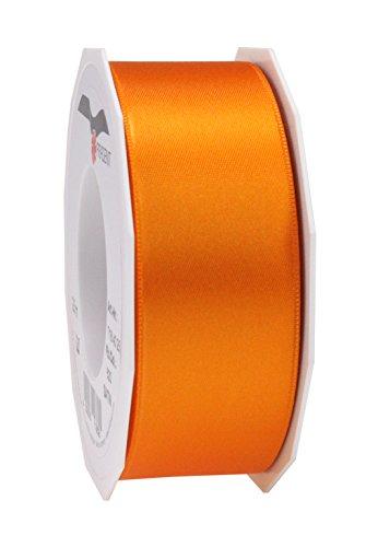 Prasent Satinband, doppelseitig, 40mm x 25m, Orange -