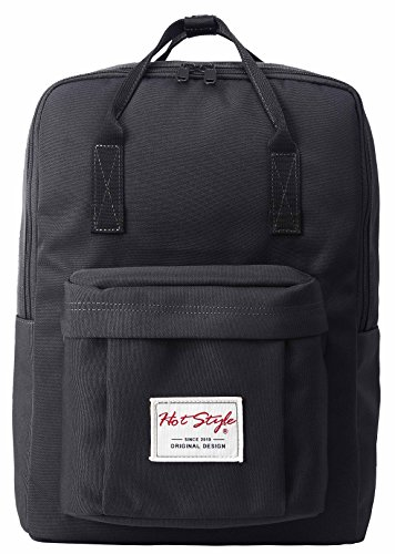 hotstyle-convertible-daypack-backpack-lightweight-waterproof-fits-15-inches-macbook-black