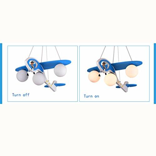 Guo Kinderzimmer-Lichter-Jungen-Schlafzimmer-Flugzeug-Lichter-Kronleuchter-Pers5onlichkeit-kreative Karikatur-Beleuchtung-Legierungs-Lampen-E27 Lampen-Hafen - 5