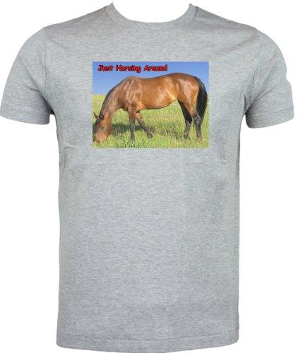 Bay cavallo Horsing a T Grigio (grigio) En Línea bG7kpOn