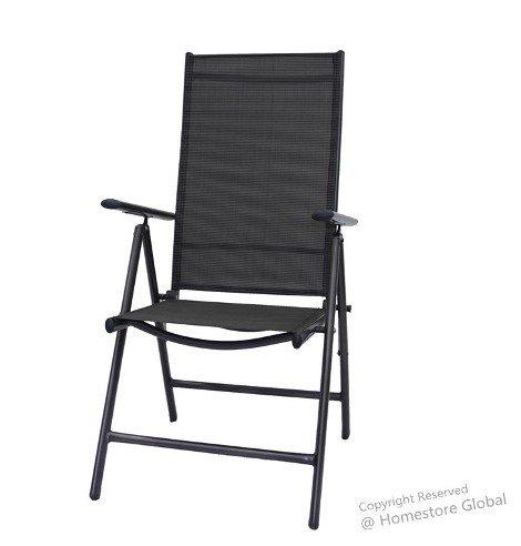 Produktabbildung von 2er Set Gartenstühle multipositions Klappstühle - Ultra-Leicht im Top-Design – Grau