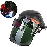 Solar Welding Helmet,Automatic Darkening Welding Shield Helmet Protection/Welder Eye Mask Protection Grinding Lens Welder Cap with Adjustable Headband,Wide Shade Range DIN 9-13