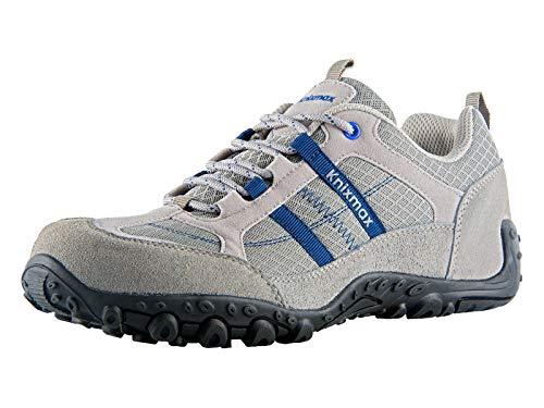 Knixmax Wanderschuhe Atmungsaktiv Trekking Schuhe Herren Damen Sports Outdoor Anti-Rutsch-Sohle Hiking Boots Man Woman Trekking-& Wanderhalbschuhe Sneaker EU 41-(UK 7) Light Grau -
