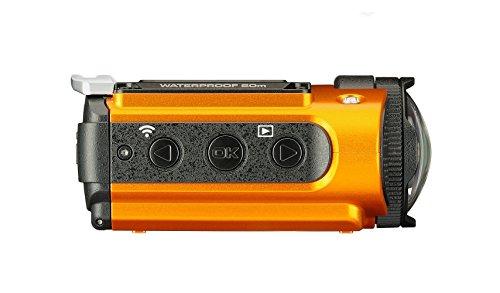 Ricoh WG-M2 kompakte und leichte Actioncam (4K-Video, 204 Grad Ultraweitwinkel-Objektiv) orange - 5