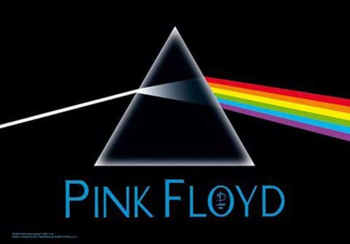 Pink Floyd - Dark Side of the Moon - Bandiera Poster 100% poliestere - dimensioni 75 x 110 cm