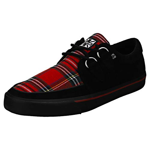 T.U.K. Shoes Men Es Women Es Red & Black Plaid D-Ring VLK Creeper Sneaker EU43 / UKM9