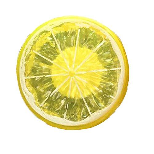 Lufterfrischer Auto Zitrone Resin Obst Duft Aromatherapie Auto Dekoration Luftfilter Auto-Styling Ätherisches Öl Geschenk Diffusor Büroraum Innenräume Yellow ()