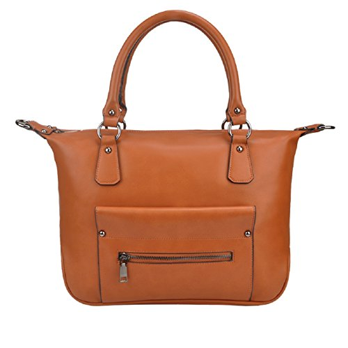 Designer Handbags,Tote Bags SPSHENG Leather Fashion Shoulder Handbags Ladies Brown 4-Brown