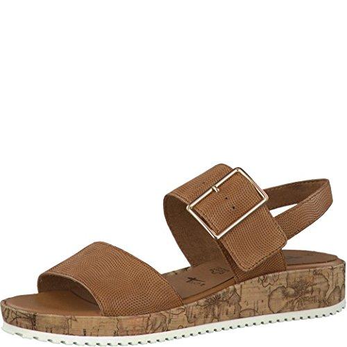 TAMARIS Damen Sandaletten Braun, Schuhgröße:EUR 41