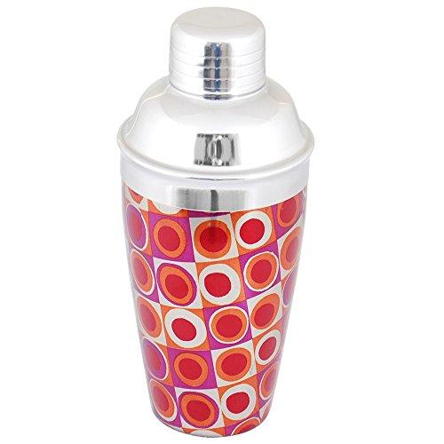 Kosma Edelstahl Cocktail Shaker - Getränke Mixer mit elegantem Print Design, Größe 500ml   Designer Bar Tool