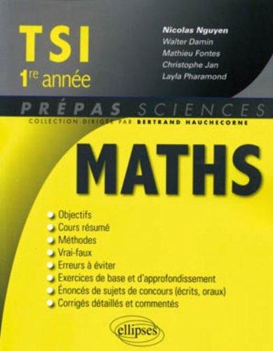 Mathématiques TSI 1e année par Nicolas Nguyen
