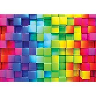 amazing sticker 3D Color cube mural 340x 240cm W X H