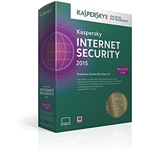 Kaspersky Lab Internet Security 2015, Limited Edition - Seguridad y antivirus (Limited Edition, Caja, Completo, 2 usuario(s), 480 MB, 512 MB, 800