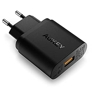 AUKEY Quick Charge 2.0 Chargeur Secteur USB 18W Chargeur Mural pour Samsung Galaxy S8 / S8+ / Note 8, LG G5 / G6, Nexus 5X / 6P, HTC 10, iPhone X / 8 / 8 Plus, iPad Pro/ Air, Moto G4 etc (B00RCM0TGY) | Amazon price tracker / tracking, Amazon price history charts, Amazon price watches, Amazon price drop alerts