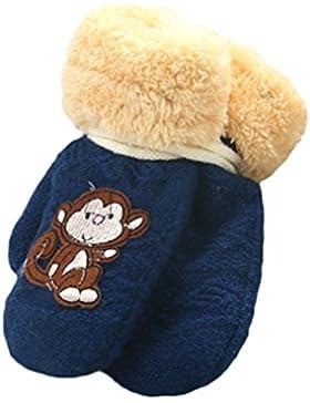 Longra Handschuhe, Nette verdicken heiße Säuglingsbaby-Mädchen-Jungen der Winter-warmen Handschuhe(1 bis 8 Jahren)