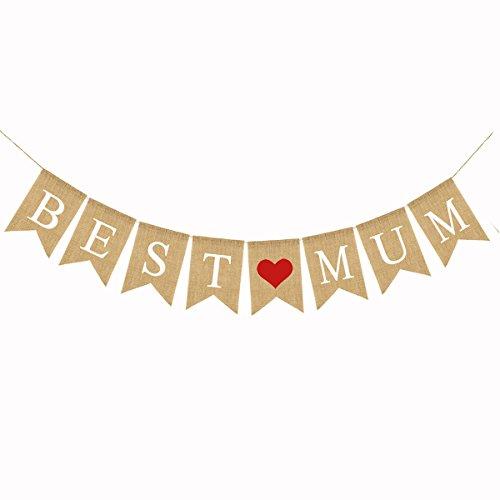 (BESTOYARD Bestyard 2,8 m Muttertagsflaggen Wimpelkette Banner Mum zum Muttertag Party Supplies)