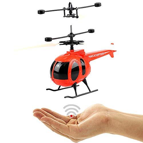 EasyFly Hubschrauber Hughes 500 (rot)-Neuheit 2018!Einfach zu Steuern per Handbewegung!EIN super Geschenk für alle Technik Freaks und Piloten zu Weihnachten!-Helicopter,Mini Drohne