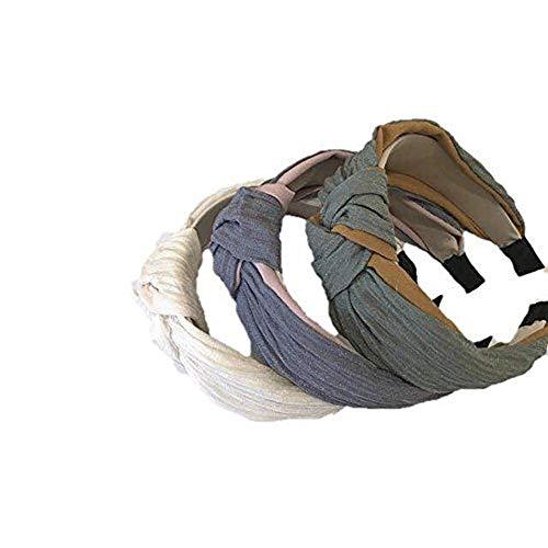 Fasce larghe da 3 pezzi, cerchietto per capelli da donna con elastico per capelli e turbante