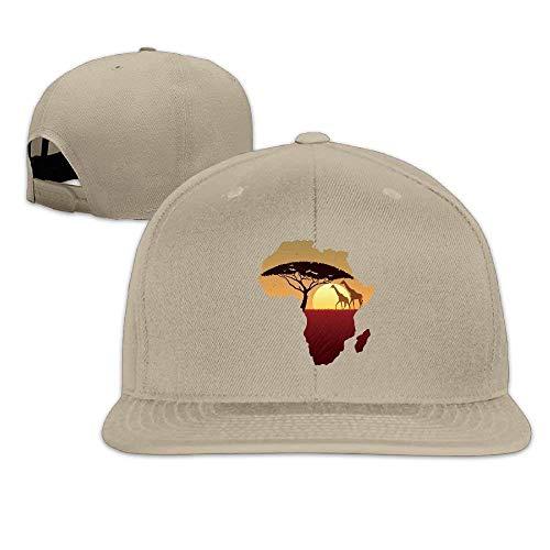 Afrikanische Safari Giraffe Baseball Tumblr Backsnap Hats Knochen Hip Hop für Männer Frauen ()