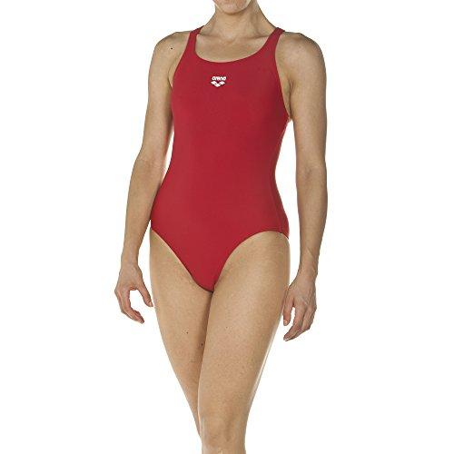 arena Damen Sport Badeanzug Dynamo (Schnelltrocknend, UV-Schutz UPF 50+, Chlor- /Salzwasserbeständig), rot (Red), 38
