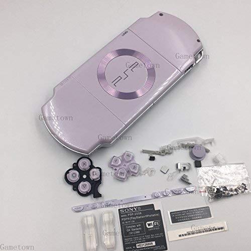 Rubber Case Cover Faceplate (Sony PSP 2000 Konsolen-Gehäuse mit Knopf Set, Hellviolett)