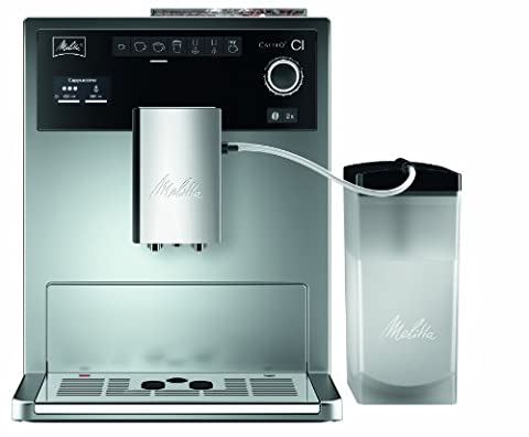 Melitta E 970-101 silber Kaffeevollautomat Caffeo CI (One-Touch-Funktion, LCD-Display, Milchbehälter,