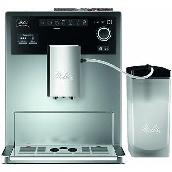 Melitta Caffeo CI E970-101 Kaffeevollautomat/mit Milchbehälter/Zweikammern-Bohnenbehälter/One Touch Funktion/15 Bar/Silber
