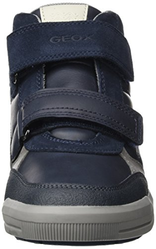Geox J Arzach B, Baskets Hautes Mixte Adulte Bleu (Navy/grey)