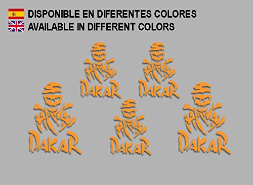 PEGATINAS DAKAR CALABERA F202 STICKERS AUFKLEBER DECALS MOTO COCHE BIKE (NARANJA/ ORANGE)