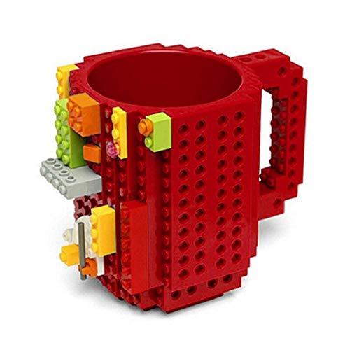 lding Brick Mug DIY Brick Tasse DIY-Montage Kaffeetasse Becher,Weihnachten Geschenk Idee(Rot) ()