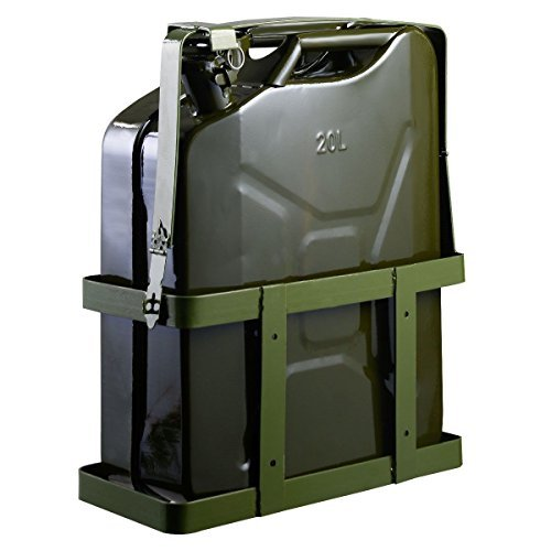 Preisvergleich Produktbild Goplus 5 Gallon 20L Gas Jerry Can Fuel Steel Tank Military Green w/ Holder New by Goplus