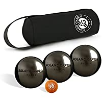 Roland Garros Set of 3 pétanque boules – and Jack OBUT – Silver