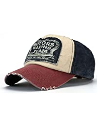 cb6dada8a06 Amison Unisex Baseball Cap Cotton Motorcycle Cap Edge Grinding Do Old Hat