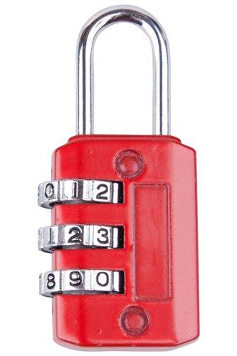 Mountain Warehouse Cadenas de combinaison de trois cadrans - serrure de combinaison 3-Dial, zinc et serrure en plastique durable de porte de conception
