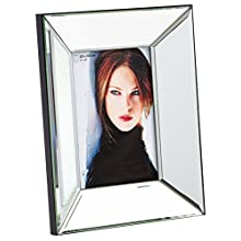 Walther Design IJ015S Jette Picture Frame/Mirror Glass Photo Frame, Silver Metal, 17.5 x 3.5 x 22.5 cm