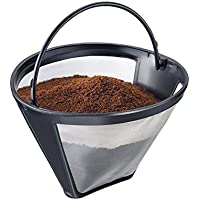 Westmark 24432260-Filtro Permanente, para 8-12 Tazas de café, tamaño de Filtro 4, con Malla de Acero Inoxidable, Plastic, Negro/Plateado/Transparente, 11.9 x 11.2 x 8.3 cm