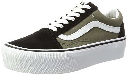 Vans Old Skool Platform, Scarpe Running Donna, Verde (Grape Leaf/True White), 42.5 EU