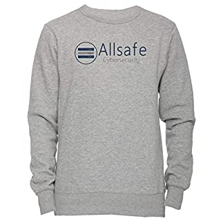Allsafe Cybersecurity - All Safe Unisex Men's Women's Jumper Sweatshirt Pullover Grey X-Large Size XL