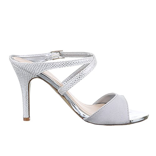 Ital-Design - Sandali  donna Grigio (Grey - light gray)