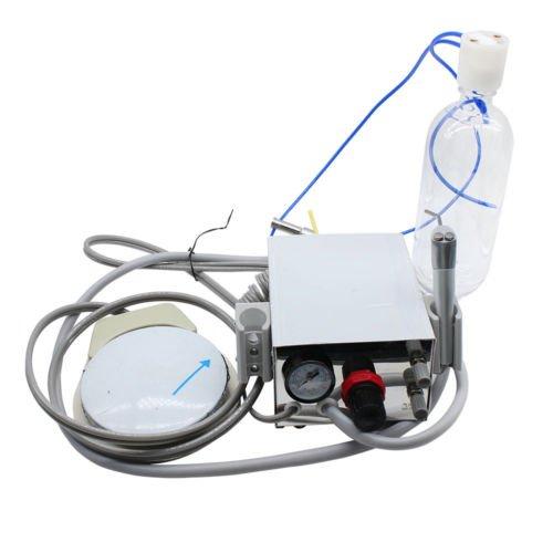 mike-dental turbineneinheit mit Air Kompressor Handstück 2Loch dreiwegspritze