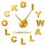 Hnsd 27inch Modern Customized 3D Acrylic DIY Wall Clock Order Your Design N Personal Logo Personalized Size Adjustable Kit Decorative Clock