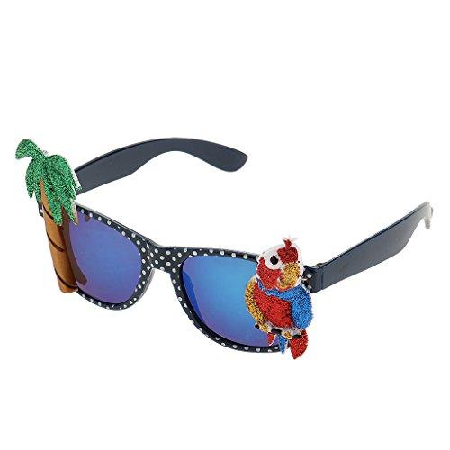 Muster Papagei Kostüm - Gazechimp Hawaiian Tropische Sonnenbrille Spaßbrille Party Brille Scherzartikel Für Erwachsene Kinder, Kokosnussbaum Papagei Muster